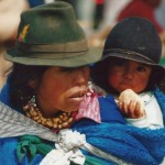 Ecuador Indian kid mother