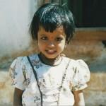 Indian girl smiling