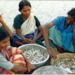 Indian women with fish